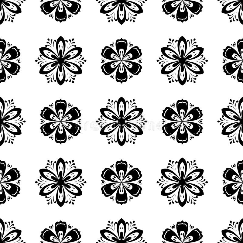 Floral seamless pattern. Abstract background royalty free illustration