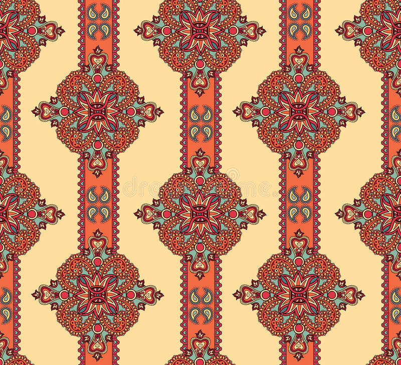 Floral seamless pattern. Abstract geometric ornament Oriental ornamental background. stock illustration