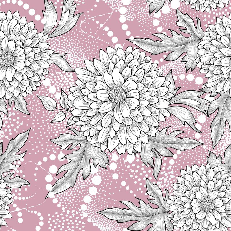 Floral seamless pattern. Abstract ornamental flower background stock illustration
