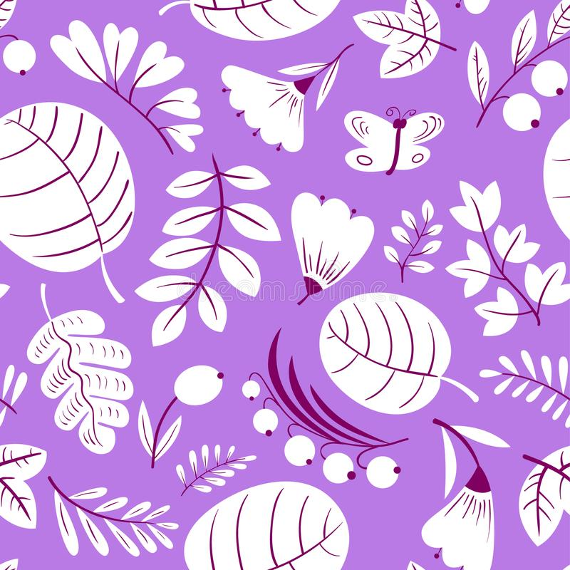 Download Floral Seamless Pattern. Background With Flowers And Leaves. Vec Stock Vector - Illustration of ornament, leaf: 116735886