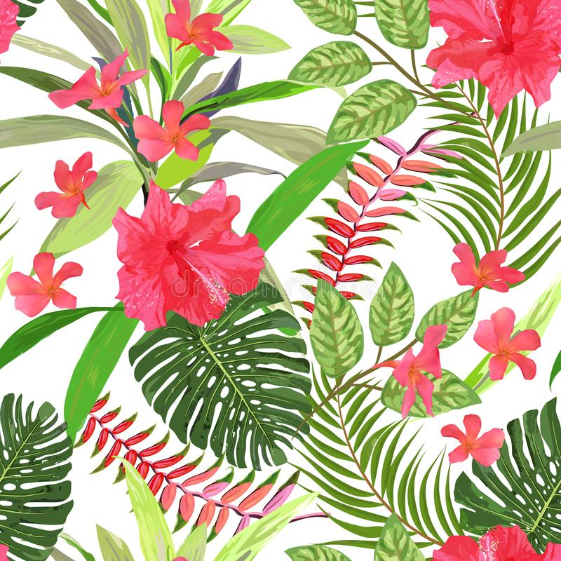 Floral seamless pattern. Background with isolated colorful hand vector illustration