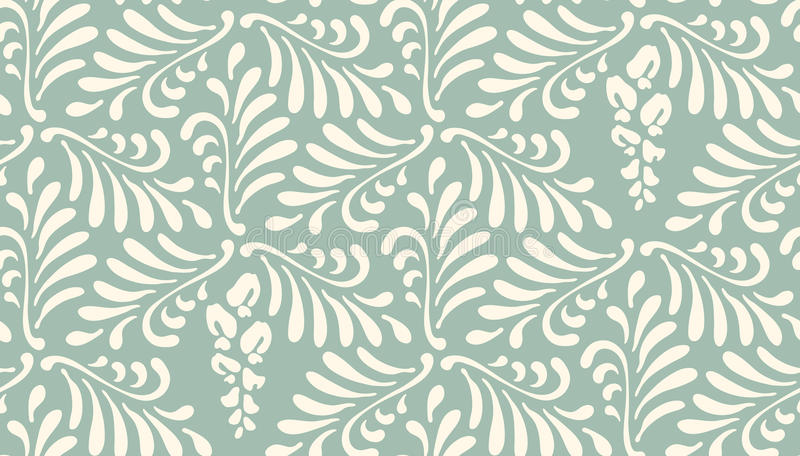 Floral seamless pattern background. Ornament of stylized leaves, flowers stock illustration