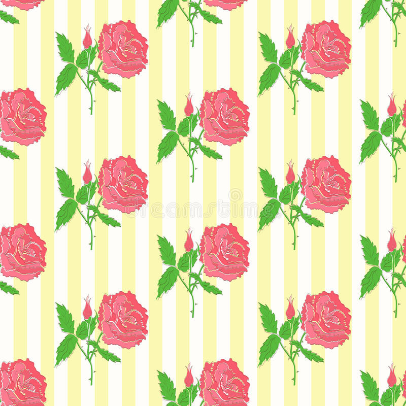 Floral seamless pattern. Background of roses royalty free illustration