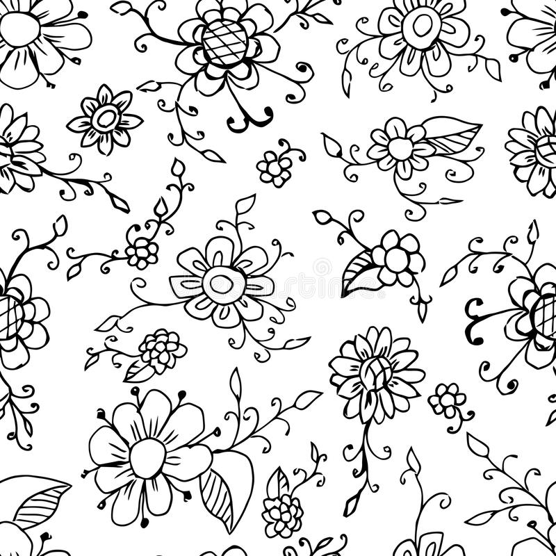 Floral seamless pattern background vector beautiful plant black download floral seamless pattern background vector beautiful plant black and white flower vintage mightylinksfo