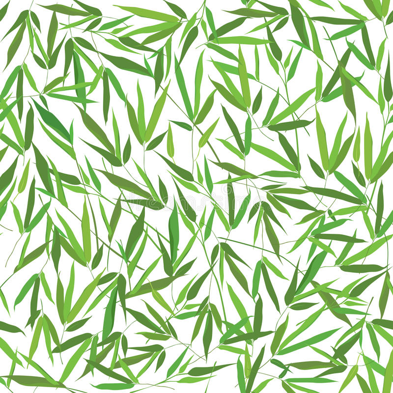 Floral seamless pattern bamboo leaves royalty free illustration