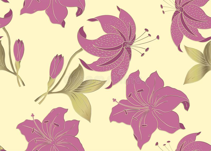 Floral seamless pattern can be used for wallpaper, textile printing, card.vector illustration of flowers on light background. stock illustration