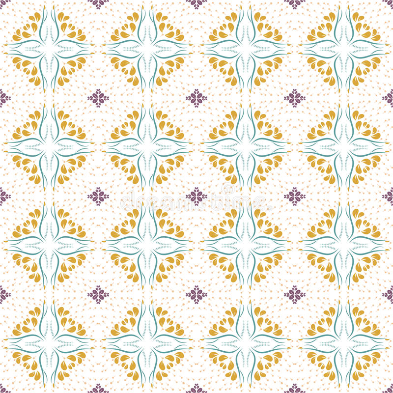 Floral seamless pattern collection, vintage color style. Editable color vector illustration