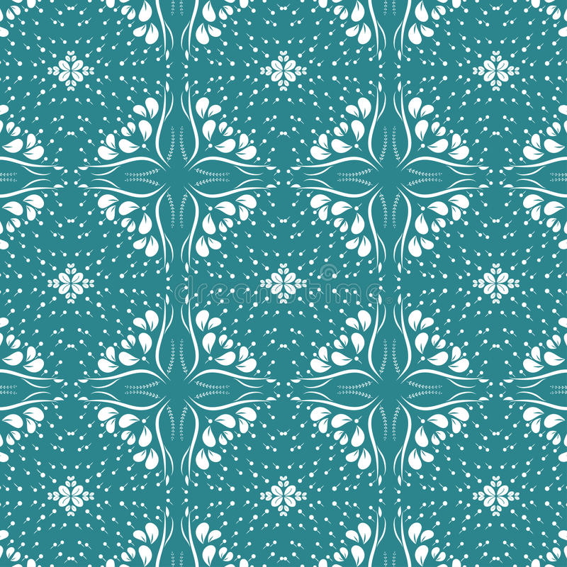 Floral seamless pattern collection, vintage color style. Editable color background vector illustration