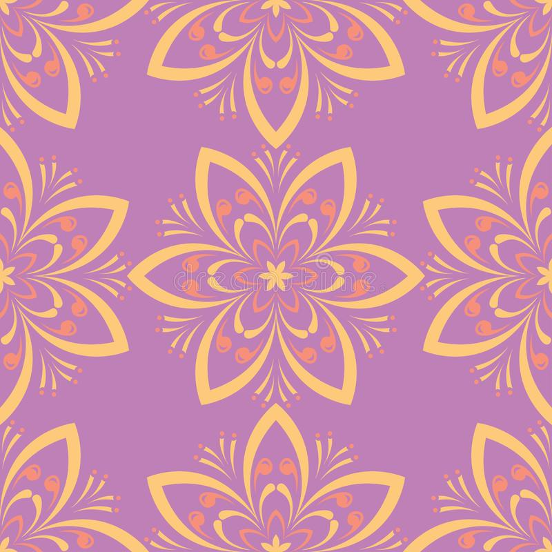 Floral seamless pattern. Colored background royalty free illustration