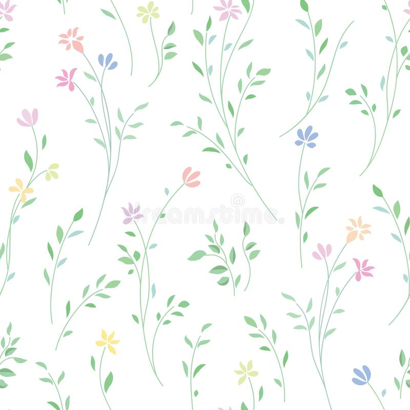 Floral seamless pattern. Flower background. stock illustration