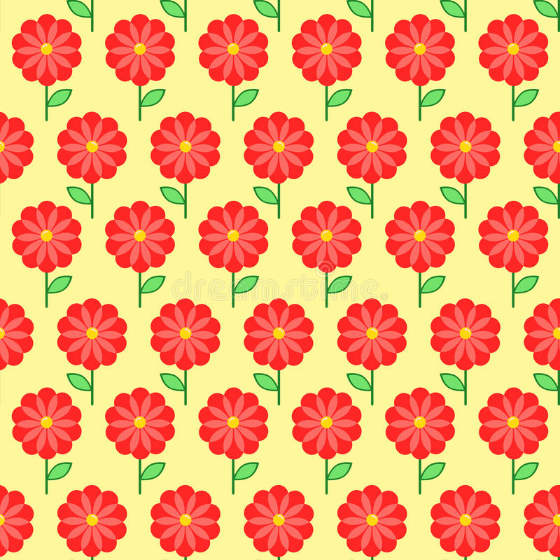 Floral seamless pattern. Flowers background. Flowers background in doodle style, template for use as packaging, paper, bedclothes royalty free illustration