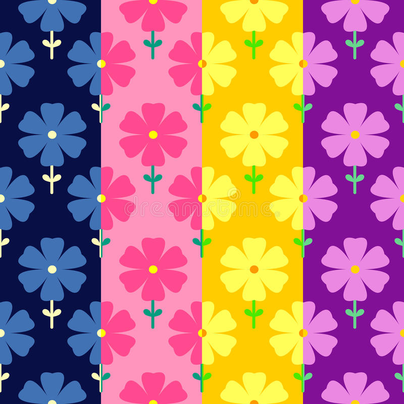 Floral seamless pattern. Flowers background. For flowers seamless patterns in doodle style, template for use as packaging, fabric, paper, bedclothes royalty free illustration