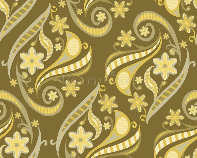 Floral seamless pattern. maroon background with flowers royalty free illustration