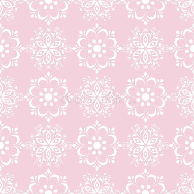 Floral seamless pattern. Pale pink abstract background vector illustration