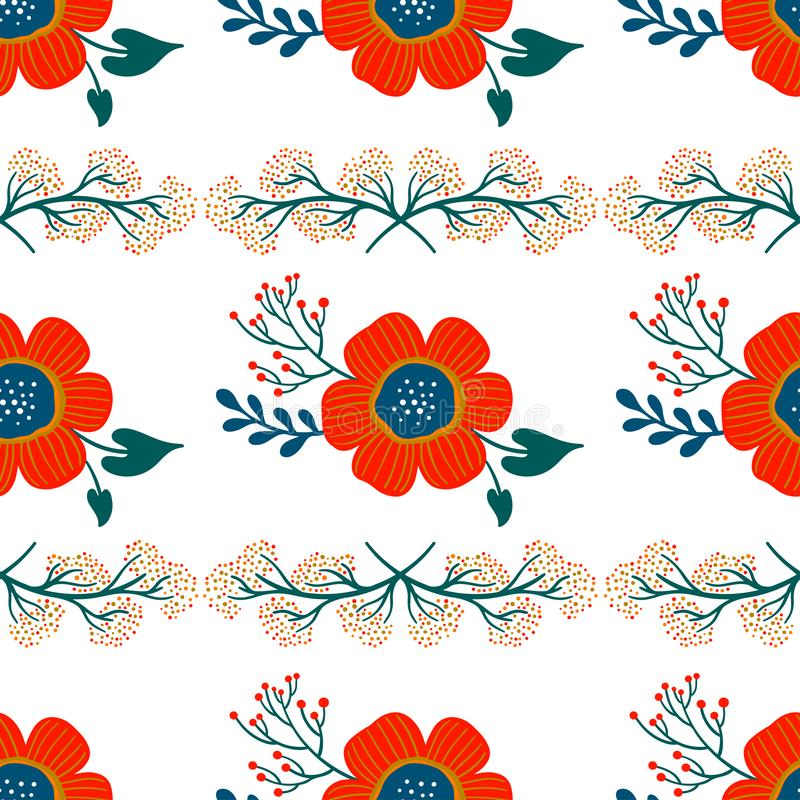 Floral seamless pattern. Pretty flowers on white background. Printing with small white flowers. Ditsy print. Ornament vector vector illustration