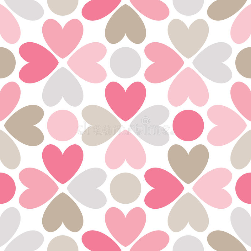 Floral seamless pattern. Red, pink, gray, brown. Floral seamless pattern. Endless texture can be used for printing onto fabric and paper or scrap booking stock illustration