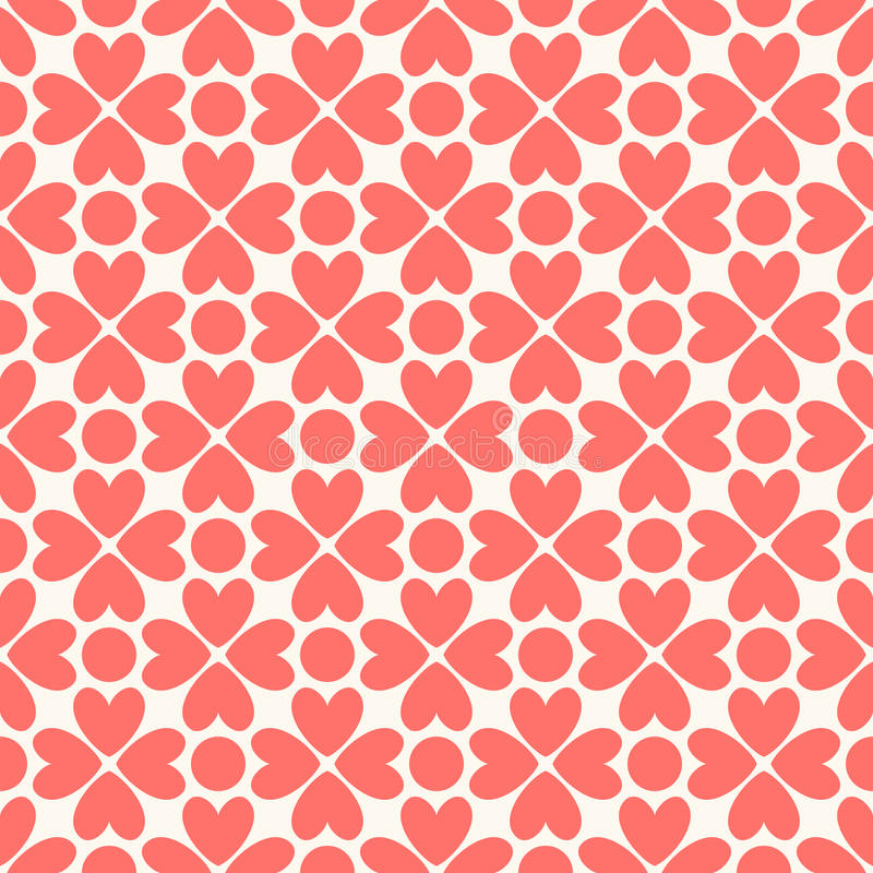 Floral seamless pattern. Red and white shabby. Colors. Endless texture can be used for printing onto fabric and paper or scrap booking. Flower abstract shape vector illustration