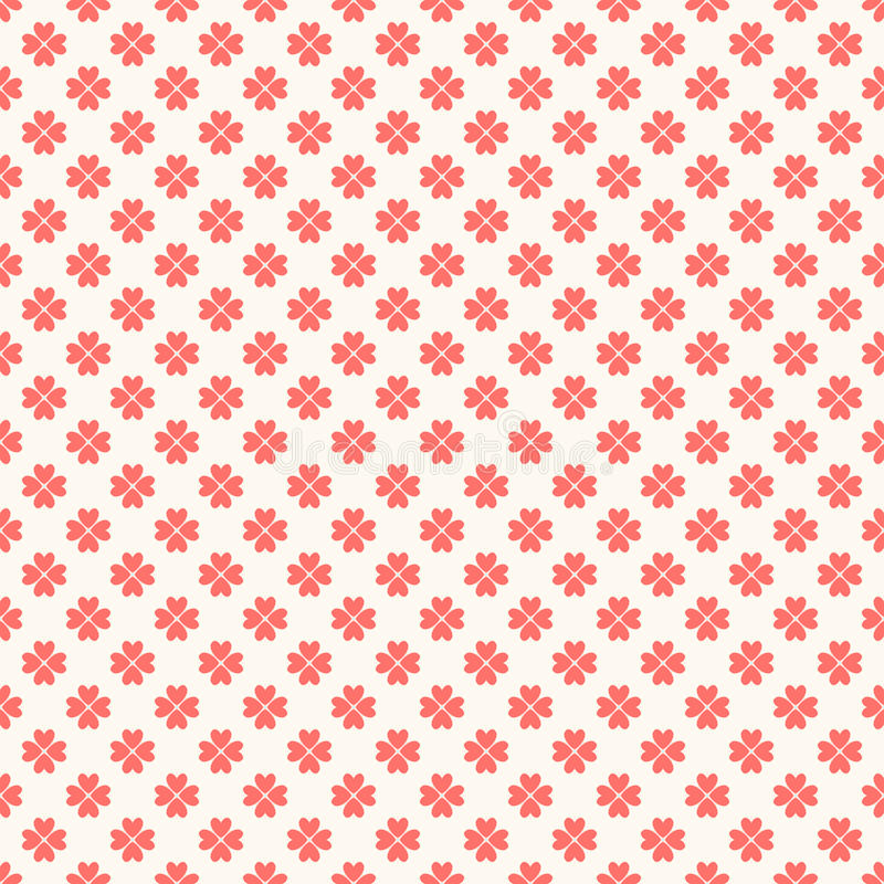 Floral seamless pattern. Red and white shabby. Colors. Endless texture can be used for printing onto fabric and paper or scrap booking. Flower abstract shape stock illustration