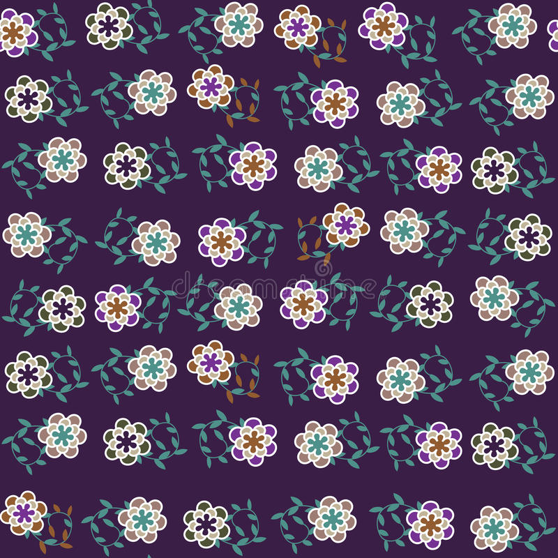 Floral Vector Seamless Pattern And Seamless Patter Stock Photos
