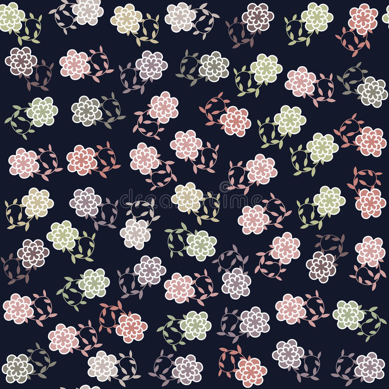 Floral seamless pattern and seamless pattern in sw royalty free illustration