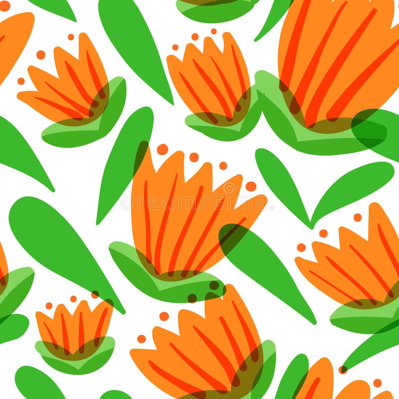 Download Floral Seamless Pattern With Tranparency Elements. Background Wi Stock Vector - Image: 104761379