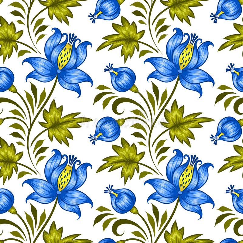 Ukrainian floral pattern. Floral seamless pattern in ukrainian national style. Vector Illustration vector illustration