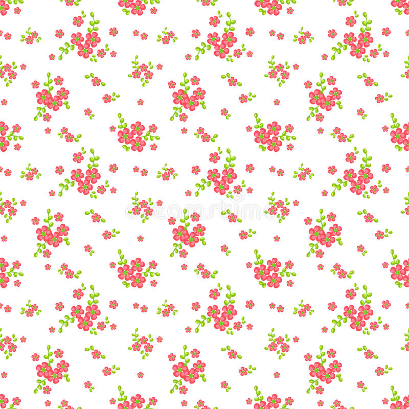 Floral seamless pattern. Vector background. stock illustration