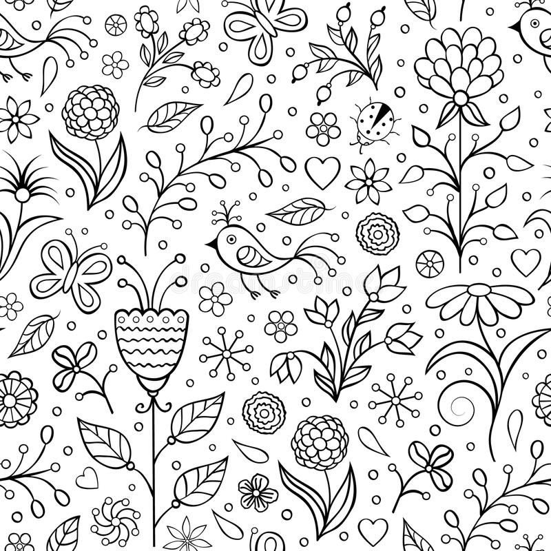 Floral seamless pattern stock illustration