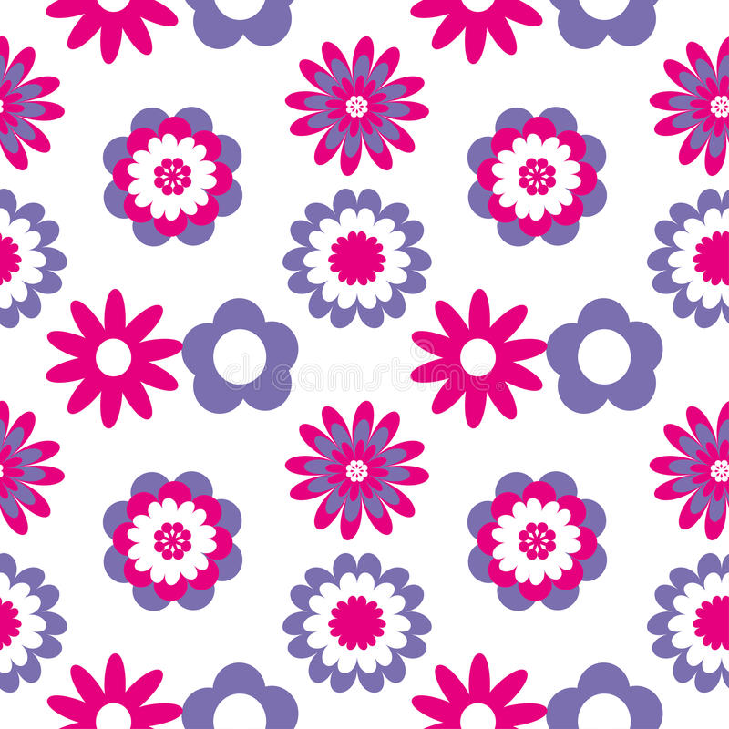 Floral seamless pattern. Vector illustration with abstract flowers. vector illustration