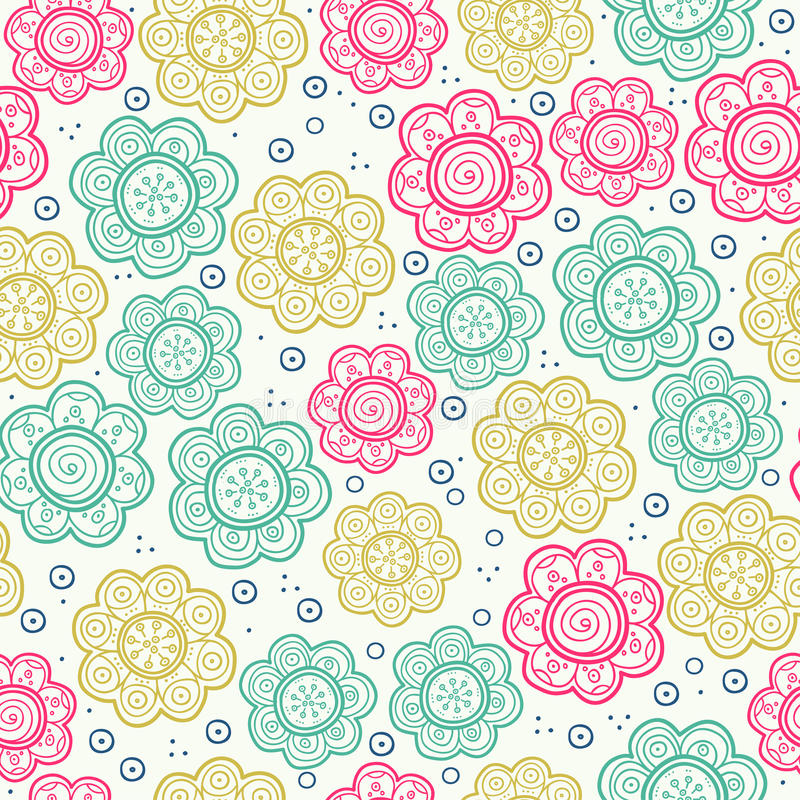 Floral seamless pattern. Vector illustration. Background. Endless texture can be used for printing onto fabric and paper royalty free illustration