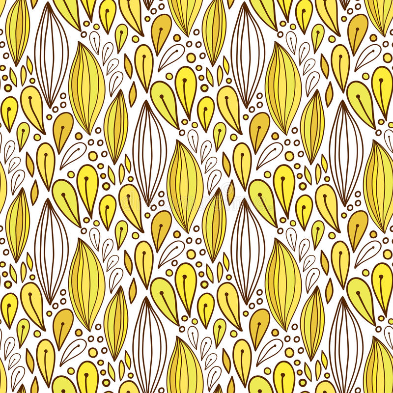 Floral seamless pattern in yellow color. Spring textile or packaging design. Vector bright background.  stock illustration