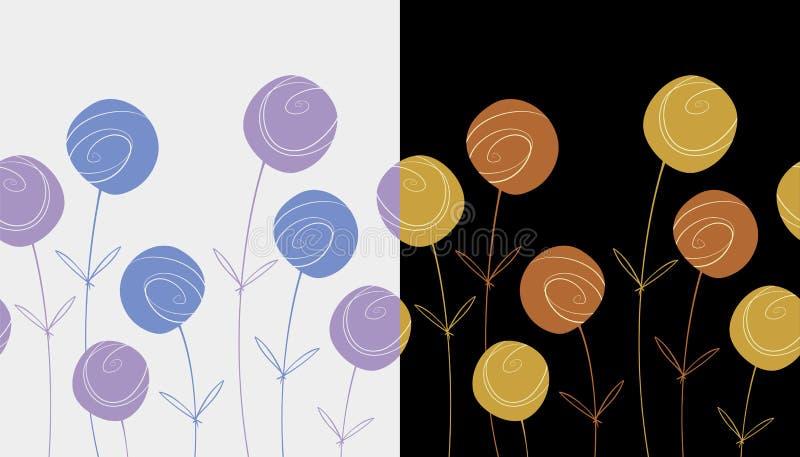 Floral seamless patterns stock photos