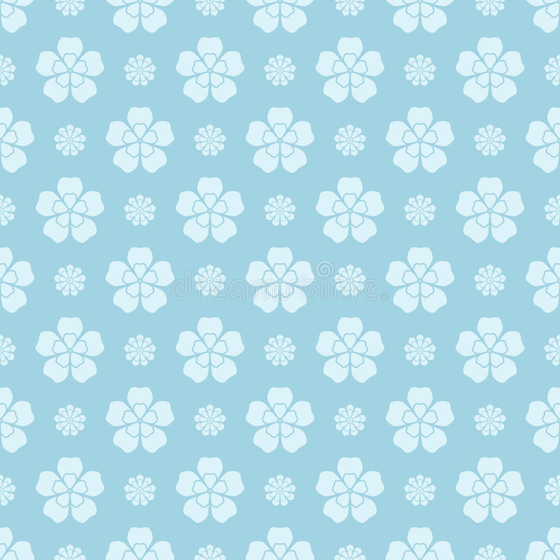 Floral seamless patterns. Colored background vector illustration