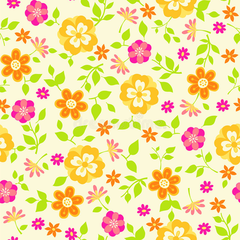 Download Floral Seamless Repeat Pattern Vector Illustration Stock Vector - Illustration of nature, tileable: 6616863