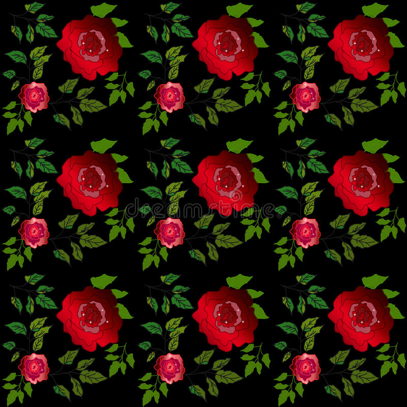 Floral seamless roses pattern. Floral seamless pattern roses background vector illustration