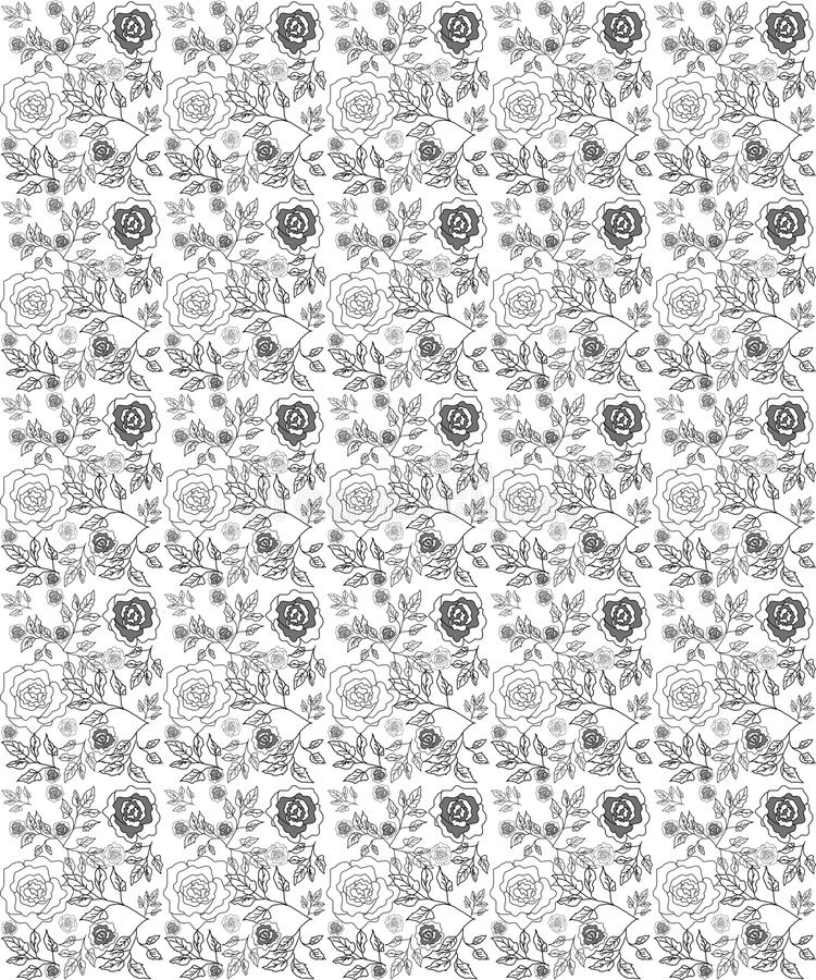 Floral seamless roses pattern. Floral seamless pattern rose background vector illustration