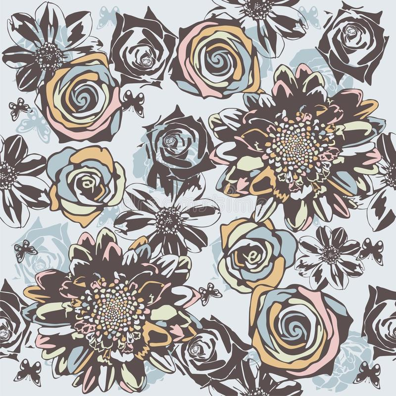Free Floral Seamless Texture Royalty Free Stock Photos - 19190428