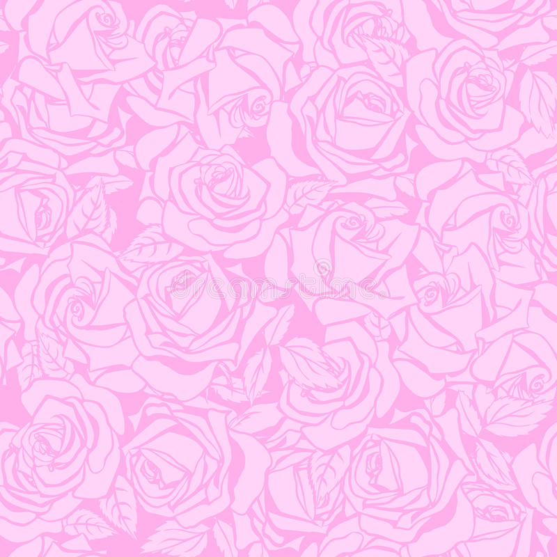 Floral seamless texture with roses. Floral seamless pattern. Floral seamless texture with roses. Vector illustration royalty free illustration