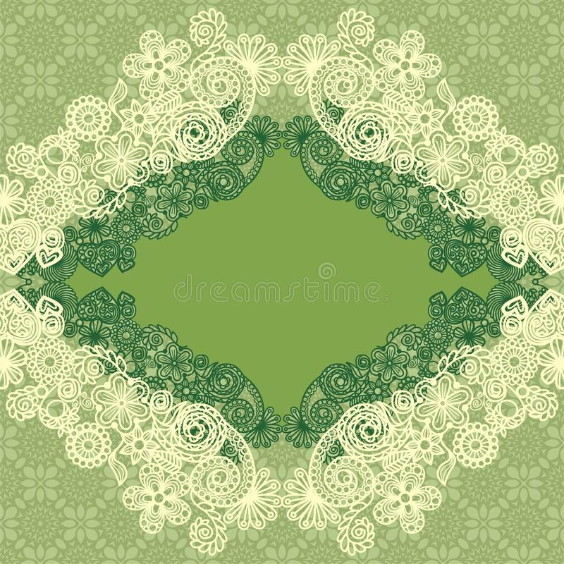 Floral seamless texture. Vector texture consist of ornate patterns. Vector illustration royalty free illustration