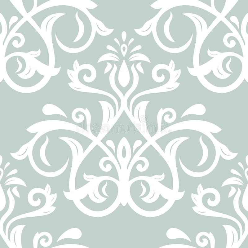Floral Seamless Vector Pattern. Orient Abstract royalty free illustration