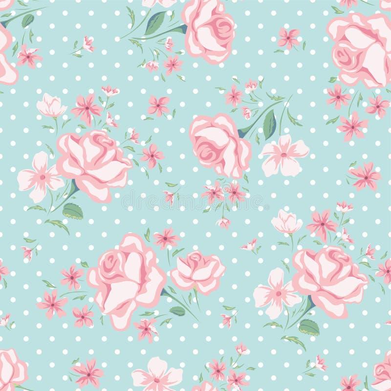 Floral seamless vintage pattern 3 royalty free illustration