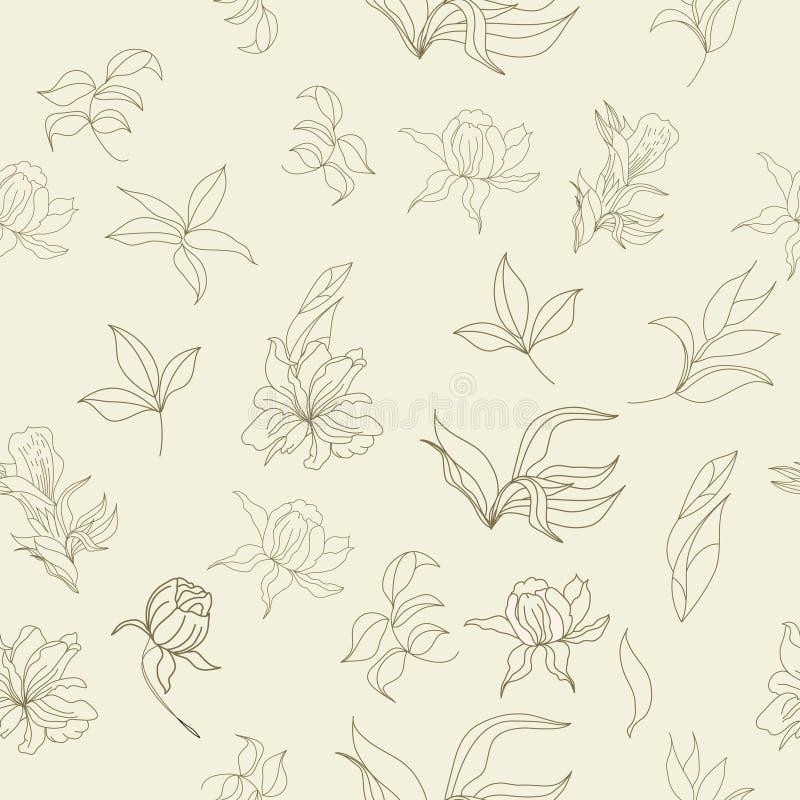 Download Floral seamless wallpaper stock vector. Illustration of rose - 14267917