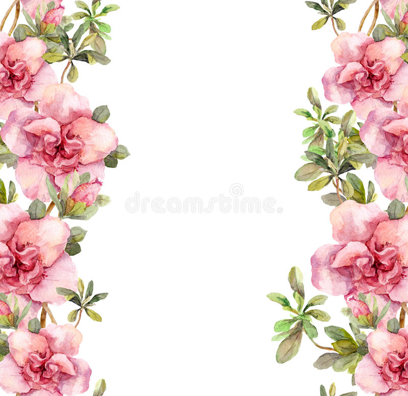 Floral seamless watercolor frame border with pink flowers aquarel download floral seamless watercolor frame border with pink flowers aquarel stock illustration illustration of mightylinksfo Images