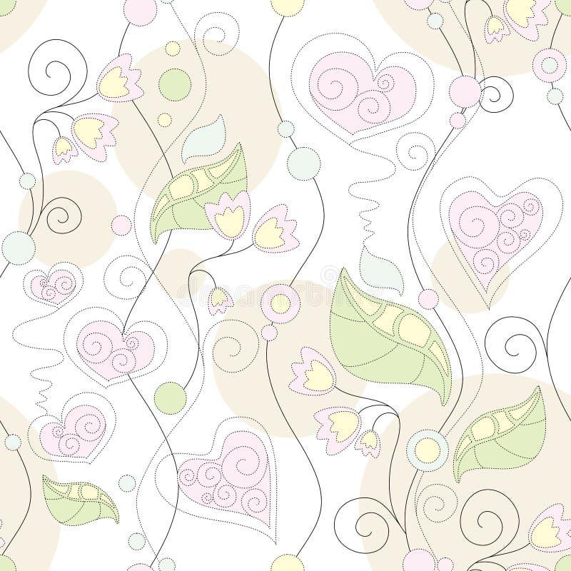 Floral sem emenda ilustração royalty free