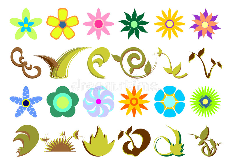Download Floral sets_02 stock vector. Image of botanical, graphic - 2287138