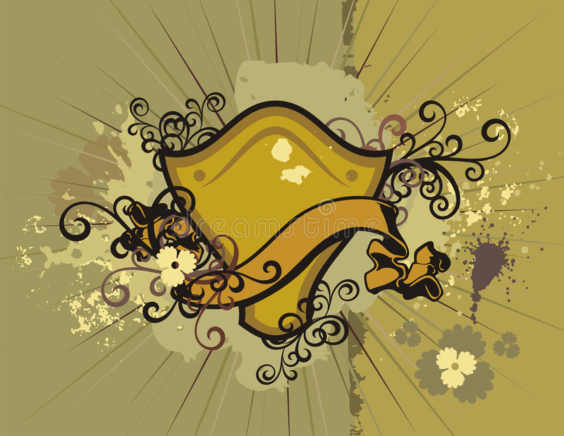 Download Floral Shield Background Stock Photography - Image: 2321442