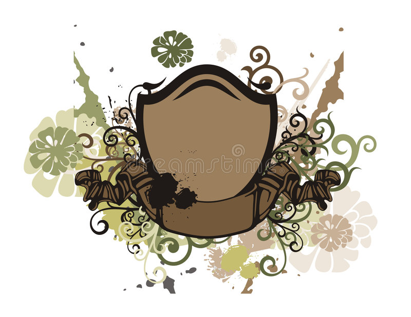Floral Shield Background Royalty Free Stock Images
