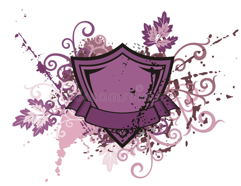 Floral Shield Background Stock Photos