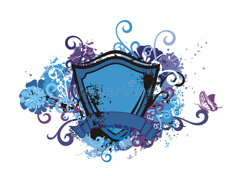 Download Floral Shield Background Stock Images - Image: 2321994