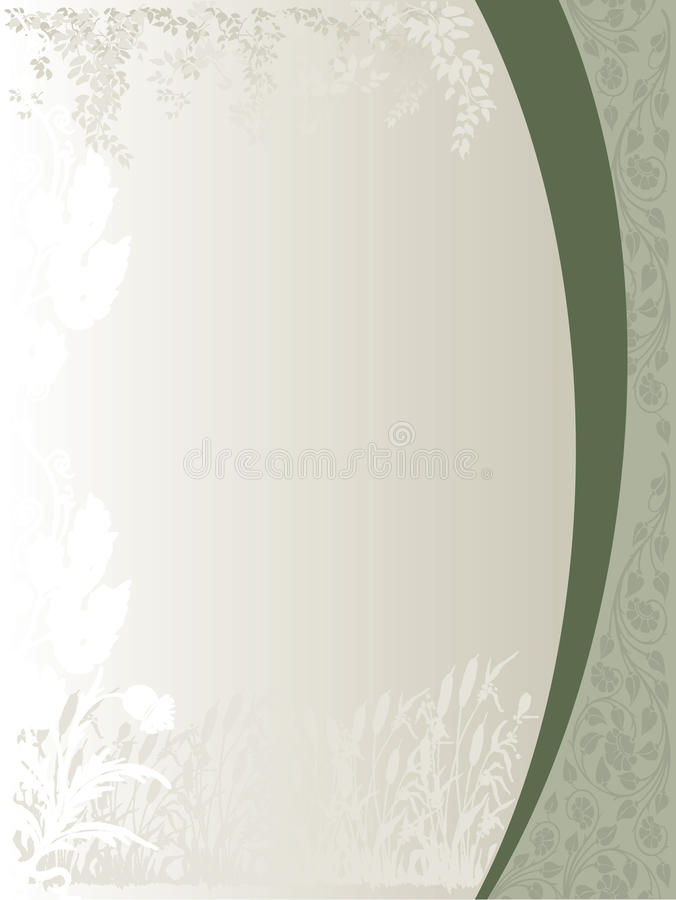 Floral Silhouette Cover royalty free illustration